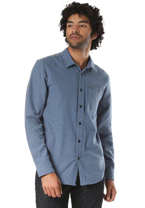 Volcom Caden Solid L/S - Hemd für Herren - Blau