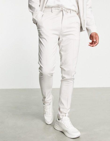 ASOS DESIGN - Elegante Hose in Eisgrau, Kombiteil
