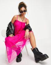 ASOS DESIGN - Maxi-Camisole-Kleid in leuchtendem Rosa