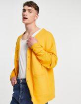 ASOS DESIGN - Oversize-Strickjacke in Gelb