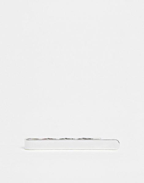 ASOS DESIGN - Schmale, silberfarbige Krawattennadel