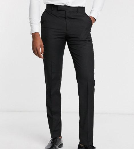 ASOS DESIGN Tall - Schmal geschnittene, elegante Hose in Schwarz
