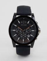 Armani Exchange - AX1326 - Outerbanks - Uhr mit Silikonarmband-Schwarz