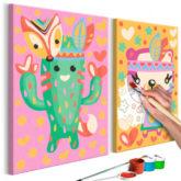 Artgeist Malen nach Zahlen Kaktus & Bär