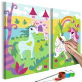 Artgeist Malen nach Zahlen Märchenhafte Einhörner