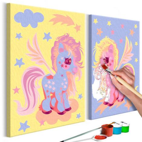 Artgeist Malen nach Zahlen Magische Einhörner