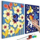 Artgeist Malen nach Zahlen Schmetterling & Einhorn