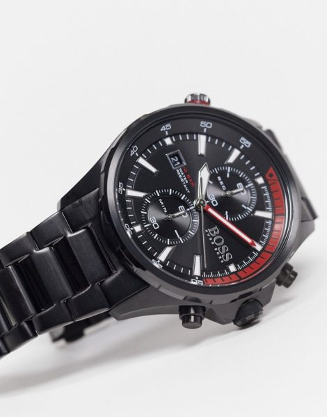 BOSS - Schwarzer Herren-Chronograph mit Armband, Modellnr. 1513825