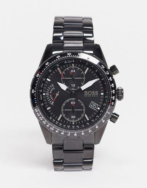 BOSS - Schwarzer Herren-Chronograph mit Armband, Modellnr. 1513854