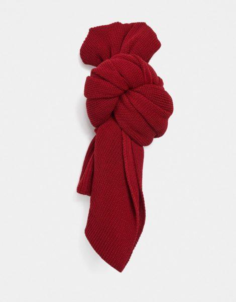 Bolongaro Trevor - Schal aus Wollmischung mit Totenkopf-Aufnäher-Rot