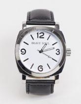 Brave Soul - Uhr mit Armband in Schwarz und Zifferblatt in Weiß
