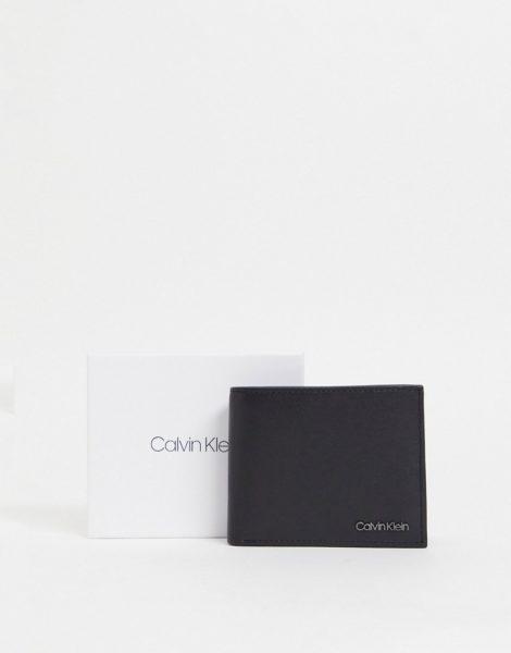 Calvin Klein - 6CC - Faltbrieftasche in Schwarz