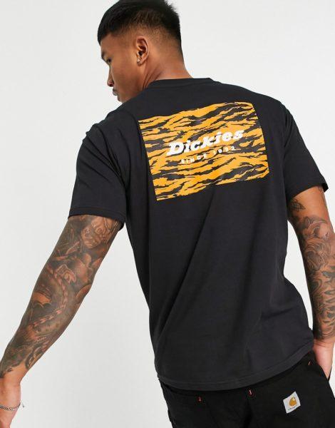 Dickies - Quamba - T-Shirt mit Logobox in Schwarz
