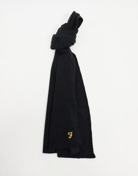 Farah - Schal mit Logo-Schwarz