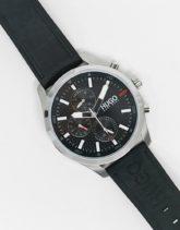 HUGO - Chase - Uhr mit Lederarmband in Schwarz 1530161