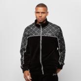 Icon AOP Velours Track Jacket black/ white