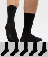 Jack & Jones - 5er Packung schwarze Socken