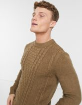Jack & Jones - Core - Strukturierter Pullover in Beige mit Rundhalsausschnitt-Neutral