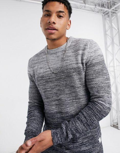 Jack & Jones Essentials - Grauer Pullover mit Farbverlauf