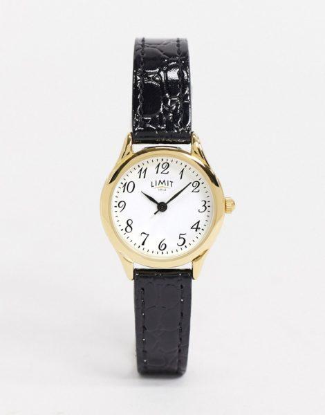 Limit - Uhr mit Kunstlederarmband in Schwarz