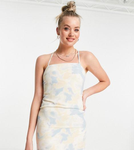 Missguided Tall - Kleid zum Hineinschlüpfen mit Wolkenmuster-Mehrfarbig