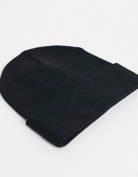 Monki - Ruby - Strickmütze aus recyceltem Polyester in Schwarz