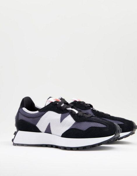 New Balance - 327 - Sneaker in Schwarz und Blau