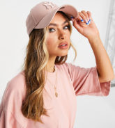 New Era - 9Forty - Exklusive Kappe in Aschrosa mit farblich abgestimmter NY-Stickerei