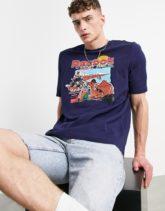 Reebok Classics - Souvenir 5 - T-Shirt in Marineblau