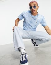 The North Face - Natural - T-Shirt mit Batikmuster in Blau