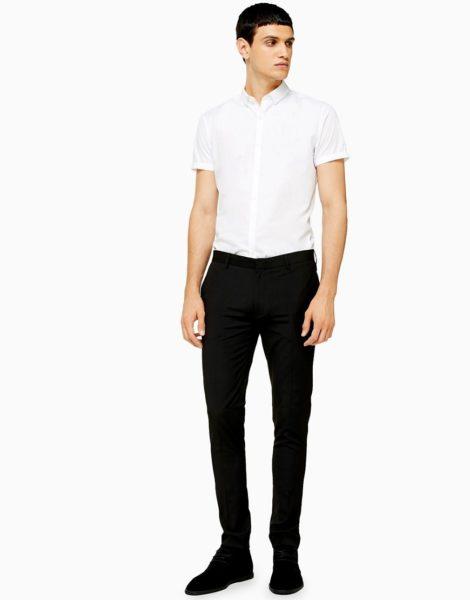 Topman - Elegante Hose mit superengem Schnitt in Schwarz