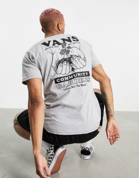 Vans - Grow Community - T-Shirt in Grau mit Rückenprint