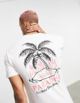 Vans - Heatwave - T-Shirt in Weiß mit Rückenprint