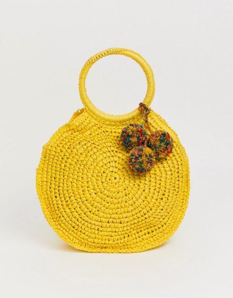 ALDO - Strohtasche-Gelb