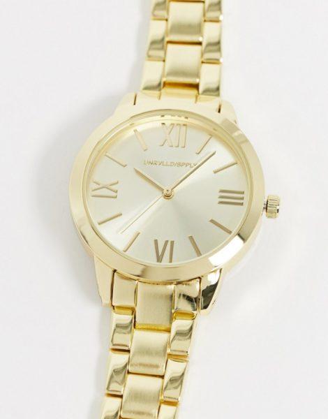 ASOS DESIGN - Goldfarbene Armbanduhr