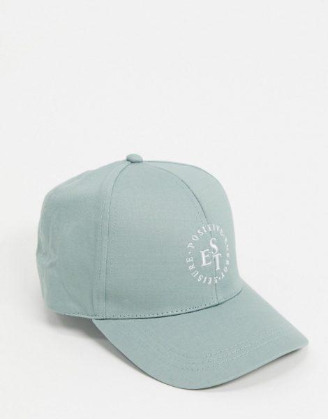 ASOS DESIGN - Minzgrüne Baseball-Cap mit Logo