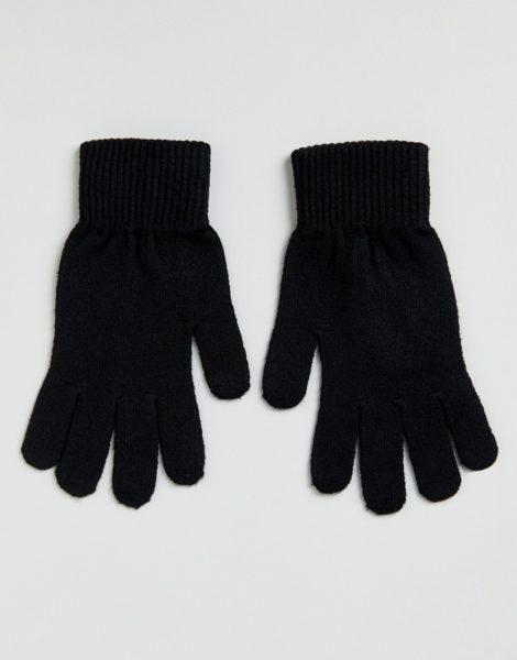 ASOS DESIGN - Schwarze Touchscreen-Handschuhe