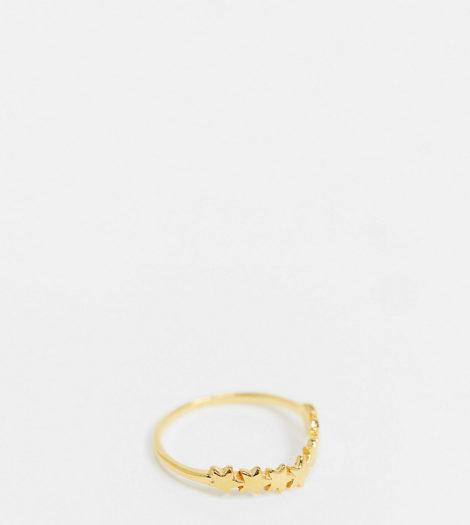 ASOS DESIGN - Vergoldeter Ring aus Sterlingsilber mit Sternendesign