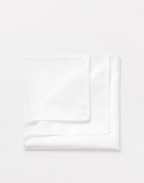 ASOS DESIGN - Weißes Einstecktuch
