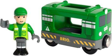 """BRIO® Spielzeug-Eisenbahn """"BRIO® WORLD Frachtlok mit Fahrer"""", FSC®-Holz aus gewissenhaft bewirtschafteten Wäldern"""