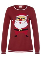 Boysen's Jacquardpullover mit Santa- Motiv