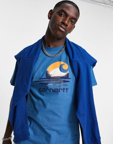 Carhartt WIP - Lagoon C - T-Shirt in Blau