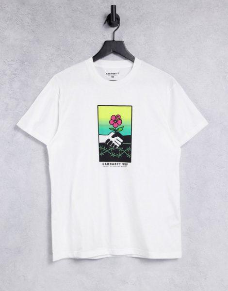 """Carhartt WIP - T-Shirt mit """"Together""""-Print auf der Brust in Weiß"""