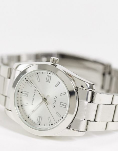 Christin Lars - Silberfarbene Armbanduhr für Damen
