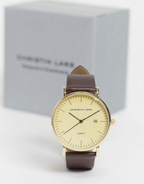 Christin Lars - Uhr mit Datumsfunktion-Braun