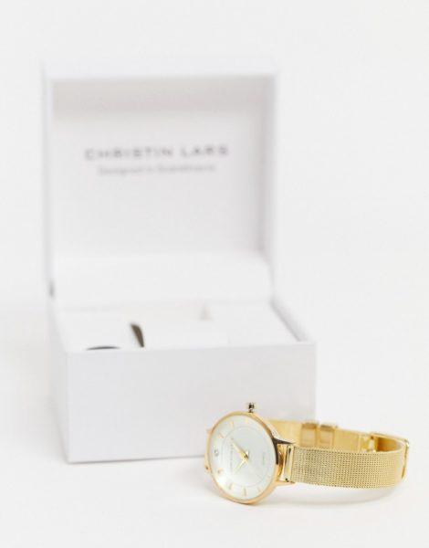 Christin Lars - Uhr mit Netzarmband in Gold