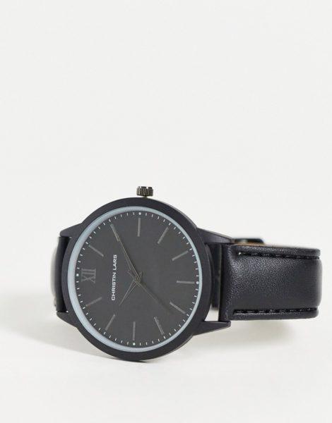Christin Lars - Uhr mit schwarzem Zifferblatt und Armband