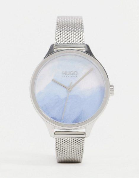 HUGO - 1540060 - Uhr mit Netzarmband in Silber