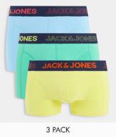 Jack & Jones - 3er-Pack Unterhosen in Neonfarben-Mehrfarbig