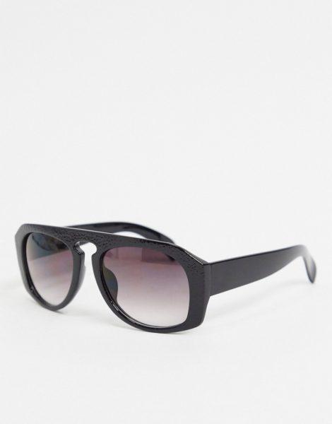 Jeepers Peepers - Runde Sonnenbrille in Schwarz für Damen